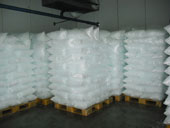 refrigerated ice storage room