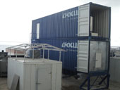 Containerized ice storage